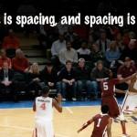 スペーシングを制するものが勝負を制す -スパーズはバスケ界のバルセロナか?-