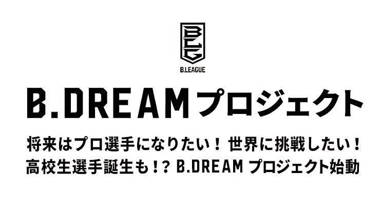 B.DREAMプロジェクトとは、B.LEAGUEでのプレーを夢見る若手バスケットボール選手(第1回目は16歳以上22歳以下、第2回大会は16歳以上30歳以下)へ挑戦する機会を提供するB.DREAMの取り組みである。選手だけではなく、コーチの育成にも取り組んでいることが特徴の1つ。