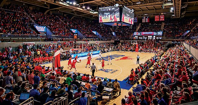 SMU MustangsのホームアリーナであるMoody Coliseum